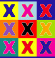 letter x sign design template element pop vector image vector image
