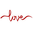 love brush calligraphy banner for valentines day vector image vector image