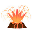 massive volcanic eruption isolated vector image