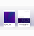 minimal cover design template set neon abstract l vector image