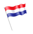 netherlands flag vector image vector image
