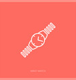 outline icon woman accessories - wrist vector image vector image