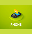 phone isometric icon isolated on color background vector image