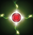 power button with electricity sparking vector image vector image