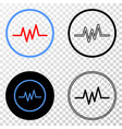 pulse signal eps icon with contour version vector image vector image