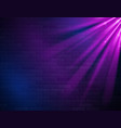 retro abstract blue and purple neon lights vector image vector image