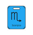 scorpio sign of the zodiac flat symbol horoscope vector image vector image
