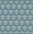 seamless baroque ornament vector image