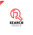 search or find people icon zoom man head logotype vector image