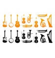 set icons of orchestral musical instruments vector image vector image