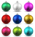 Set of realistic christmas balls vector image