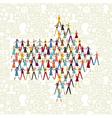 Social media people in arrow icon shape vector image vector image