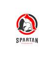 spartan logo design spartan helmet logo template vector image vector image