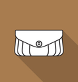 Stylish handbag icon vector image vector image