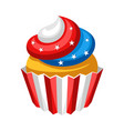 stylized cupcake vector image