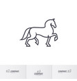 stylized white horse for mascot logo template vector image vector image