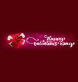 text handwriting happy valentines day banners vector image vector image