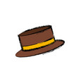 vintage hat male vector image vector image