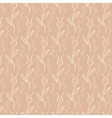 White flower pattern on sand background vector image