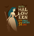 witch halloween party vector image vector image
