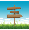 wood sign direction conceptual concept or travel vector image