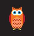cartoon owl icon vector image