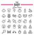 baby line icon set kid symbols collection vector image