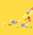 abstract multicolored balls flying particles vector image