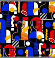 abstract seamless pattern surreal women