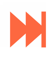 Arrow sign direction icon circle button skip vector image vector image