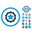 Award Seal Flat Icon with Bonus vector image vector image