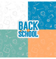 back to school seamless patterns vector image vector image