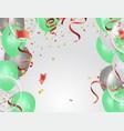 balloons confetti concept design background vector image