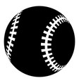 baseball icon simple black style vector image