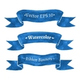 Blue ribbon banners vector image vector image