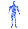 bottle man figure vector image vector image