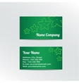 Business Card with abstract flowers vector image