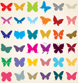 butterflies silhouettes vector image vector image