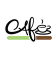 cafe typography vector image vector image
