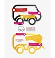 car infographic tag cloud vector image vector image