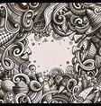 cartoon cute doodles hand drawn mexican food vector image vector image