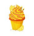 cartoon style of sweet cupcake vector image