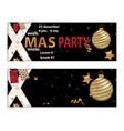 christmas 2018 party invitation card for your vector image vector image