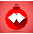 Christmas icon with the silhouette of bells on a vector image vector image
