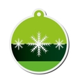 christmas tree ornament icon vector image