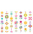 colorful flower symbol contemporary graphic vector image