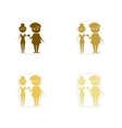 Concept paper stickers on white background Man vector image vector image