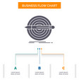design goal pencil set target business flow chart vector image