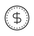 dollar coin online shopping line style icon vector image vector image