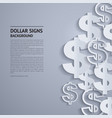 dollar signs on grey background vector image vector image